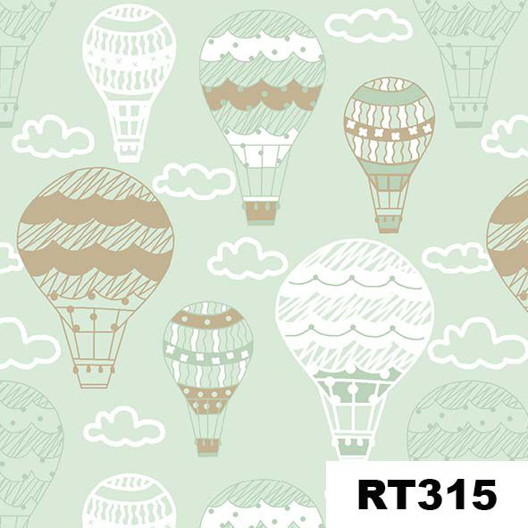 Balões Menta  - Tecidos Digitais