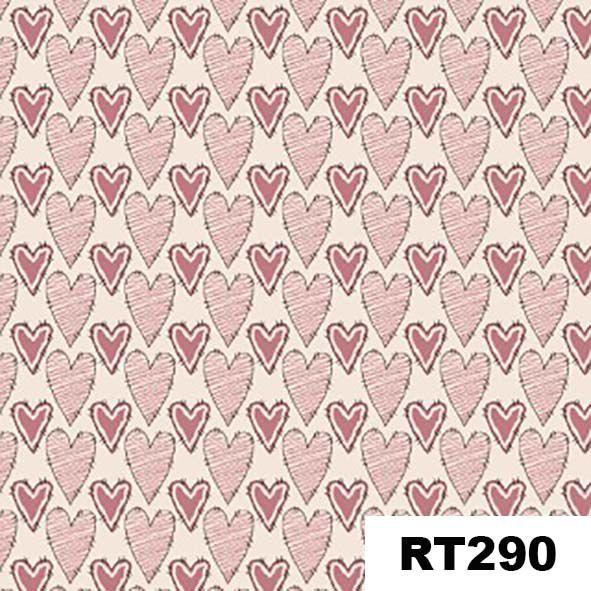 Corações Riscados Rosa  - Tecidos Digitais