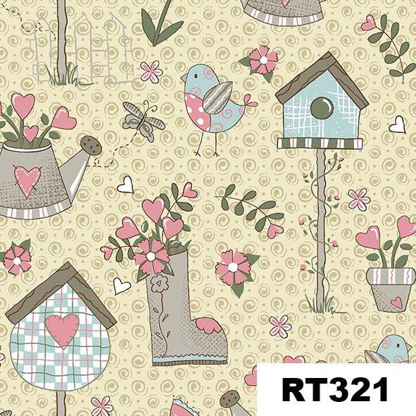 Garden Creme  - Tecidos Digitais