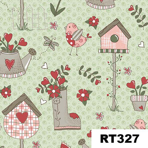 Garden Menta  - Tecidos Digitais