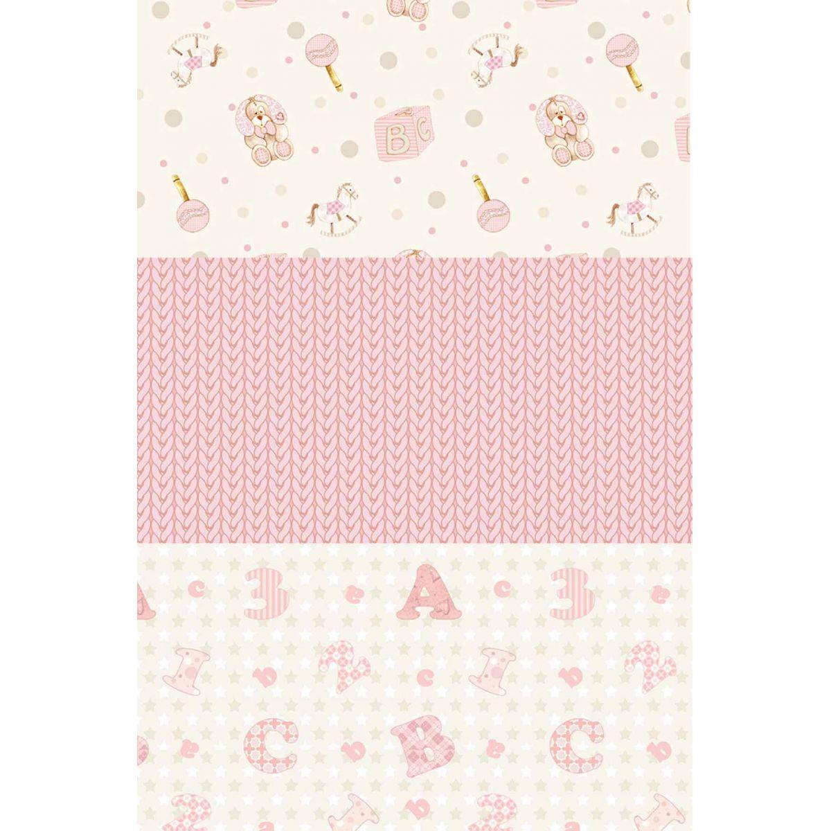 Kit Coleção Baby Menina  - Tecidos Digitais
