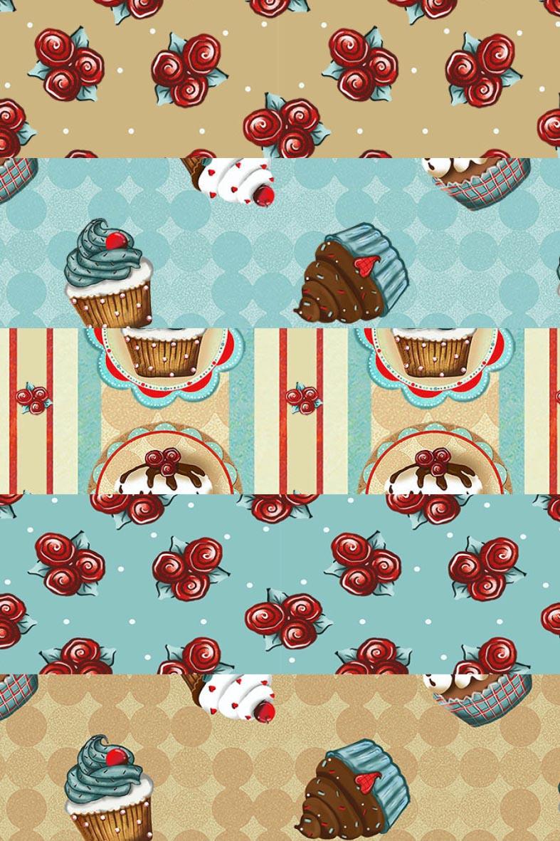 Kit Coleção Cupcake  - Tecidos Digitais