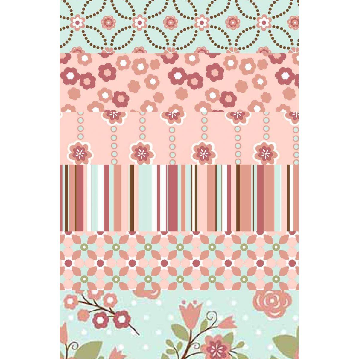 Kit Coleção Floral Chic  - Tecidos Digitais