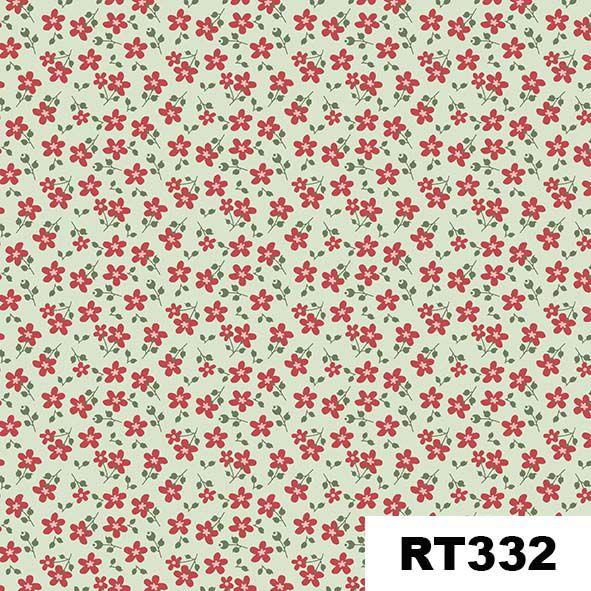 Micro Floral Garden Menta  - Tecidos Digitais