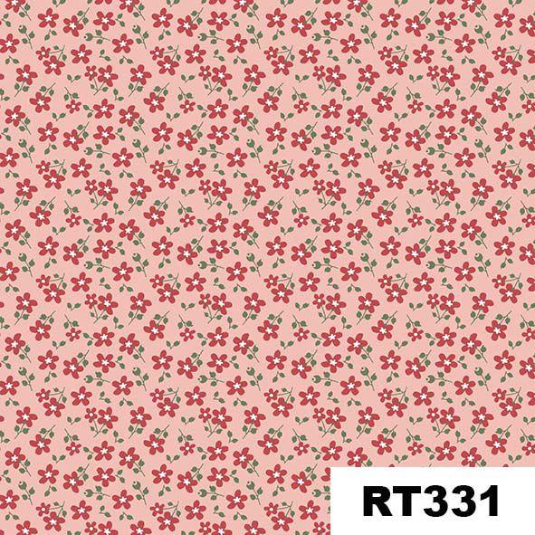 Micro Floral Garden Rosa  - Tecidos Digitais
