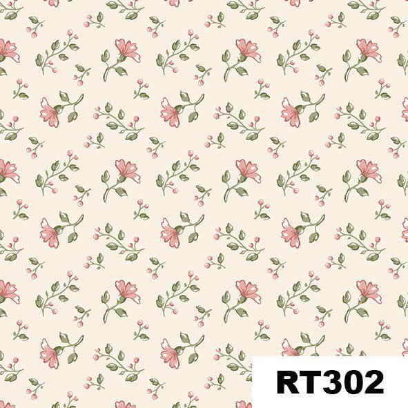 Mini Floral Campestre Bege  - Tecidos Digitais