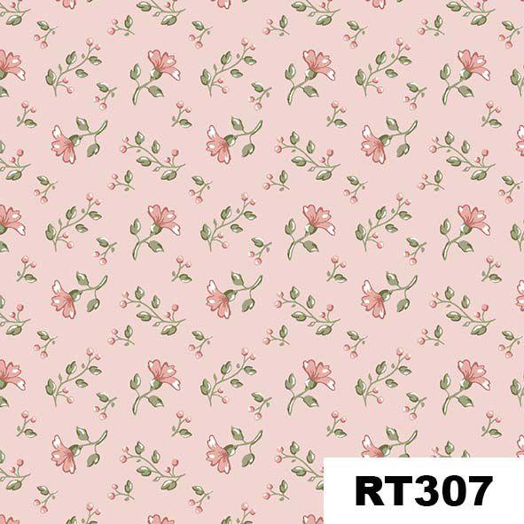 Mini Floral Campestre Rosa  - Tecidos Digitais