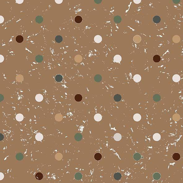 Tecido Bolas com Textura Marrom  - Tecidos Digitais