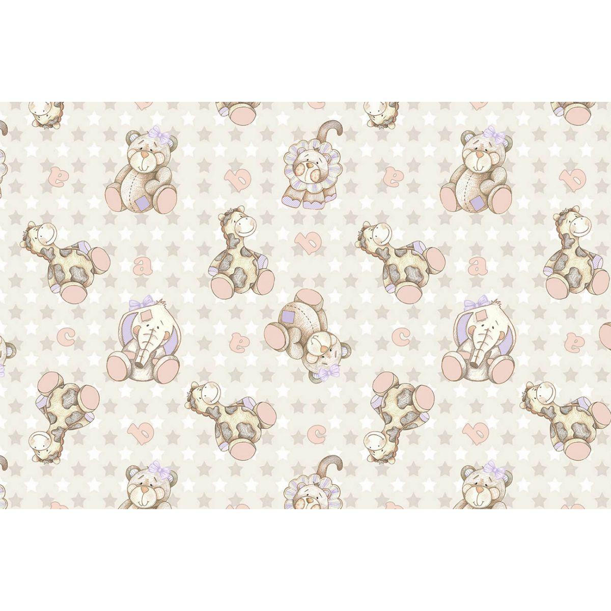 Tecido Digital Bichos Safari Girl  - Tecidos Digitais