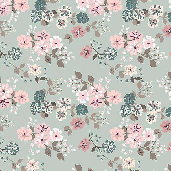 Tecido Digital Floral Bonecas Retrô  - Tecidos Digitais