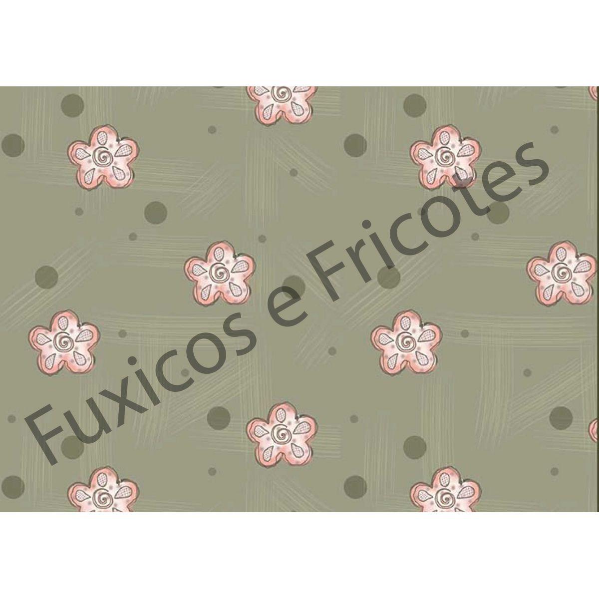 Tecido Digital Flores e Bolas  - Tecidos Digitais