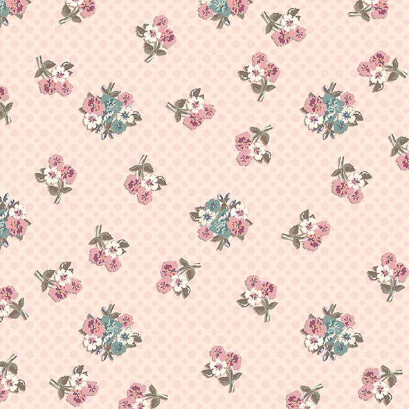 Tecido Digital Macinhos Flores Retrô  - Tecidos Digitais