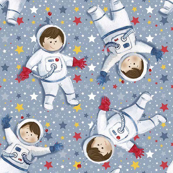 Tecido Digital Mini Astronautas  - Tecidos Digitais