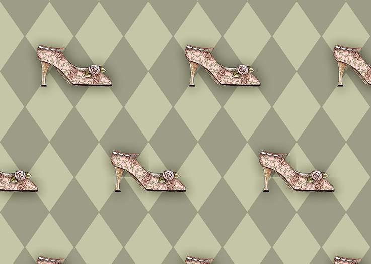 Tecido Digital Sapatos  - Tecidos Digitais