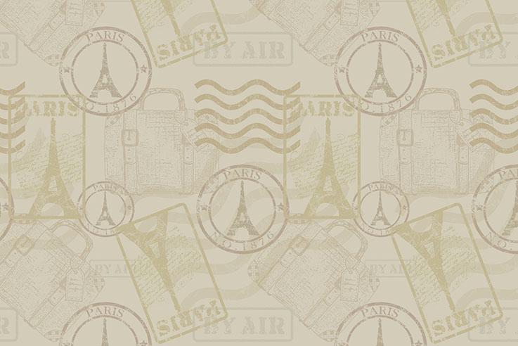 Tecido Digital Selos Bege  - Tecidos Digitais