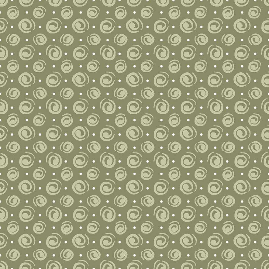Tecido Espiral Verde  - Tecidos Digitais
