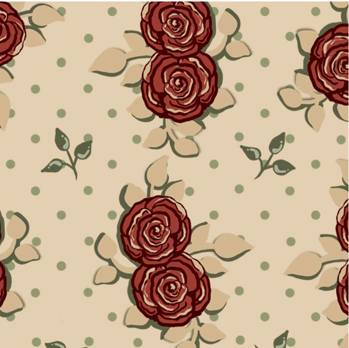 Tecido Floral Country  - Tecidos Digitais