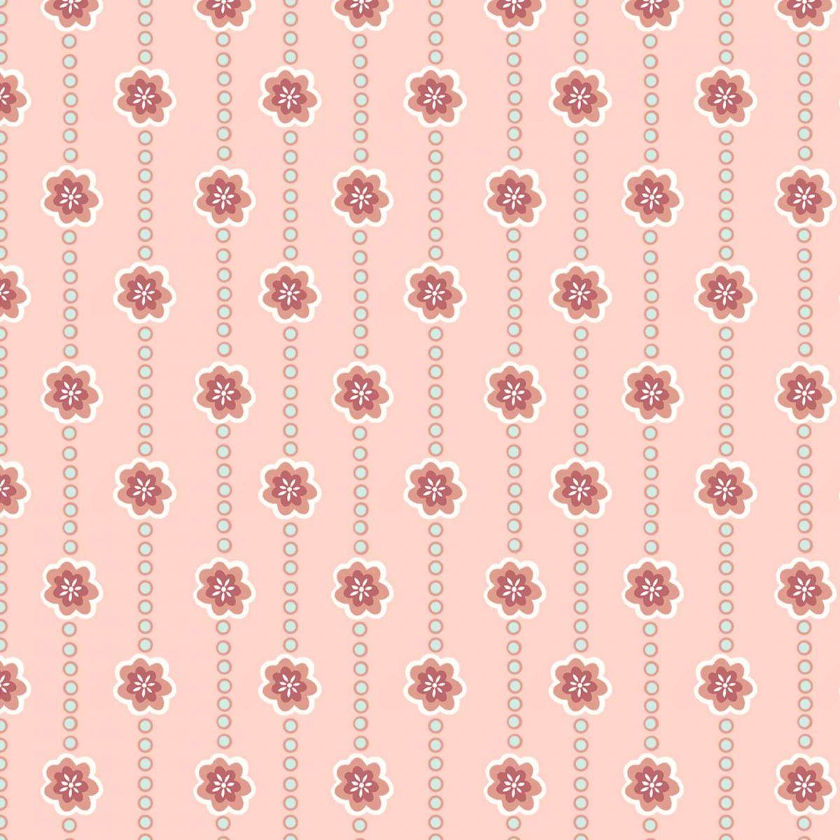 Tecido Flores e Faixas  - Tecidos Digitais