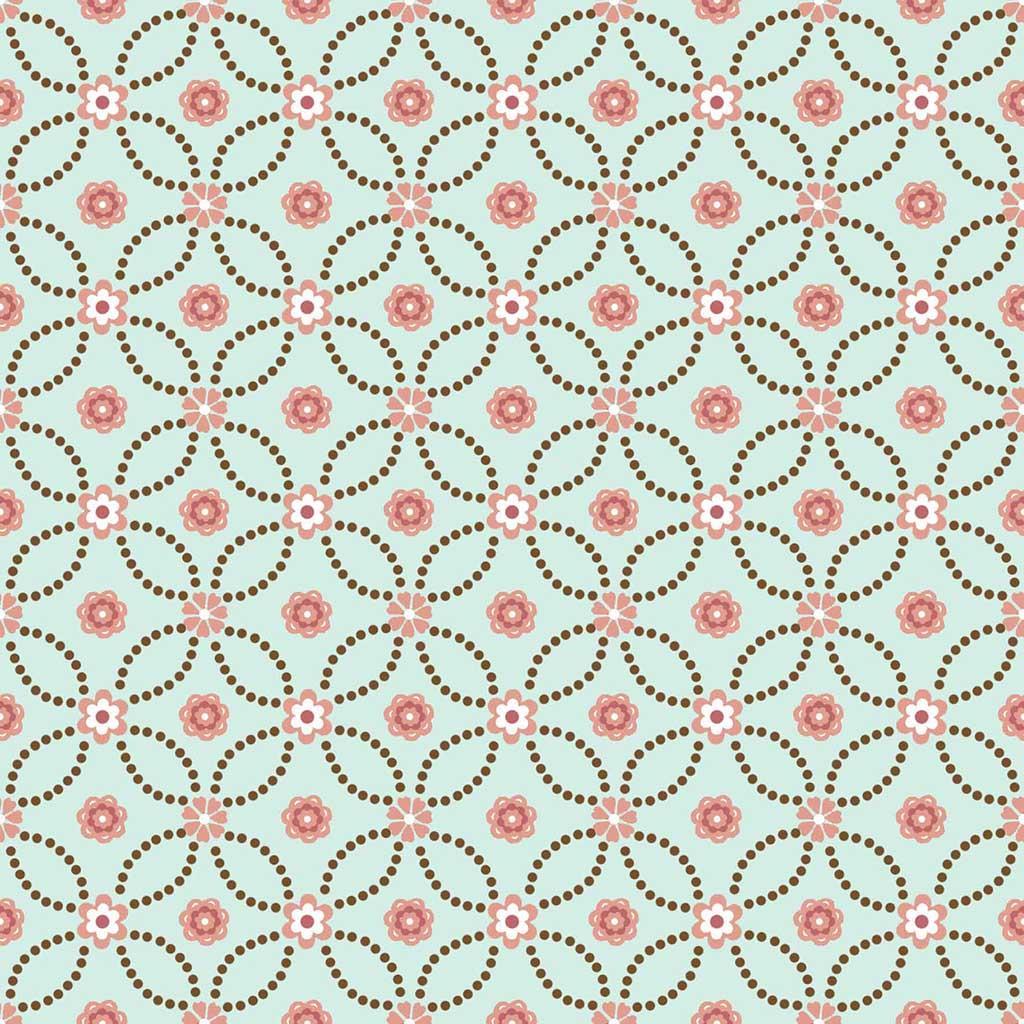 Tecido Flores Entrelaçadas  - Tecidos Digitais