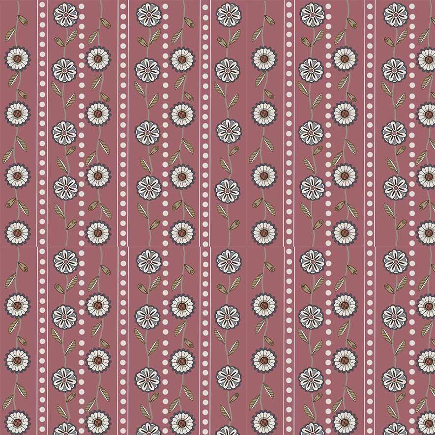 Tecido Mini Floral Bali Fundo Rosa  - Tecidos Digitais