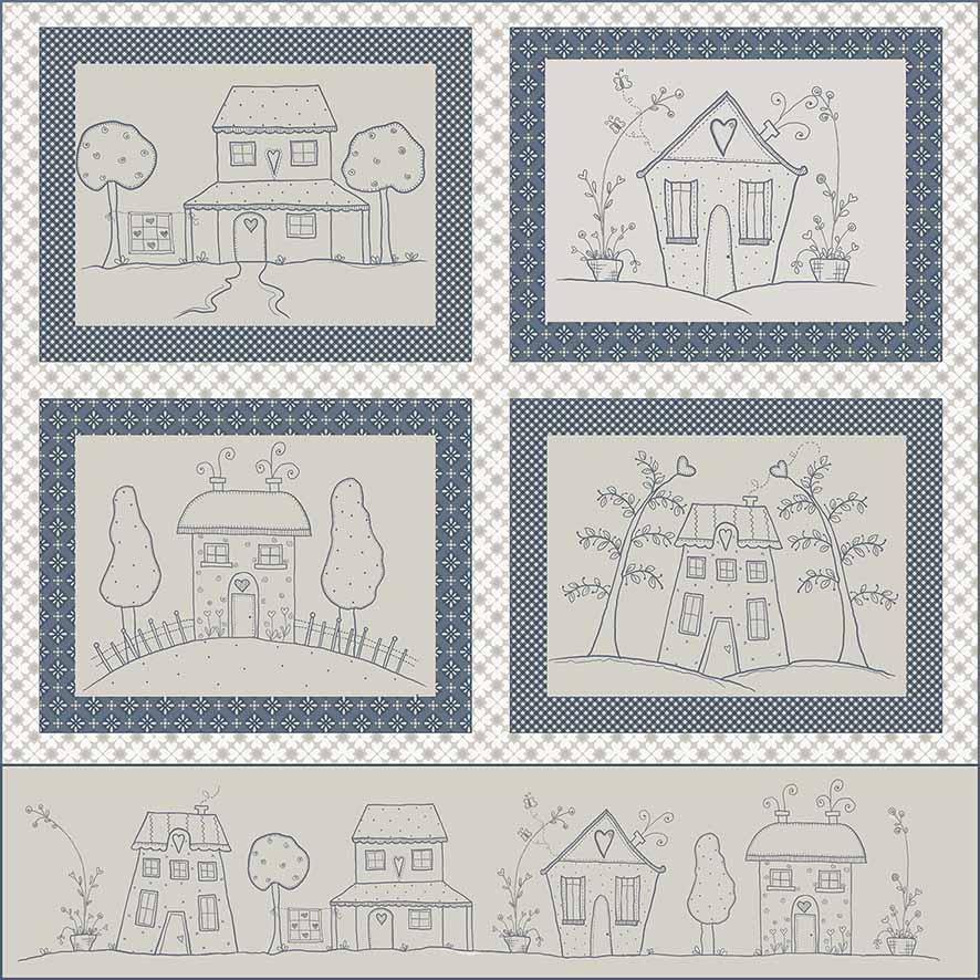 Tecido Painel Blue Work  - Tecidos Digitais