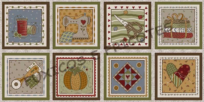 Tecido Painel Costura Country  - Tecidos Digitais