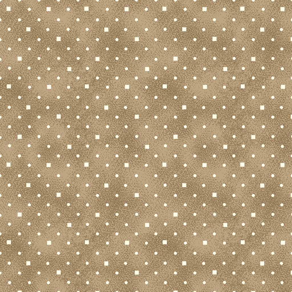 Tecido Poá e Quadradinhos Caramelo  - Tecidos Digitais