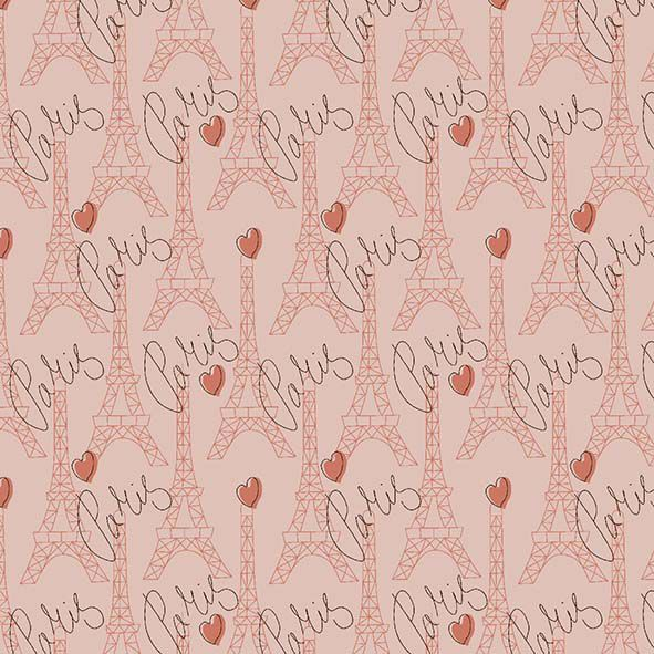 Tecido Torres Paris Coral  - Tecidos Digitais