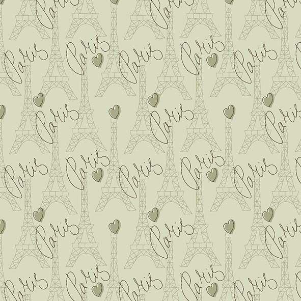 Tecido Torres Paris Verde  - Tecidos Digitais