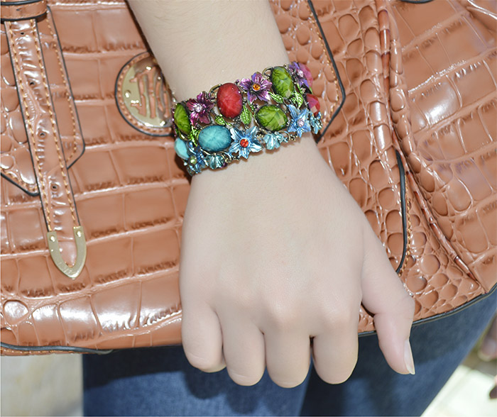 Bracelete Colorido de Pedras Sintéticas  - BRA_06  - ArtStones