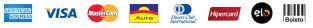 Cartões de Crédito, Boleto Bancário, Transferencia para Banco do Brasil, Itaú, Bradesco