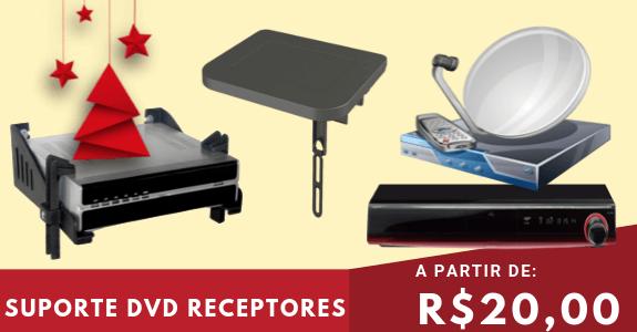 Suporte para DVD, Conversor, Receptor de Canais