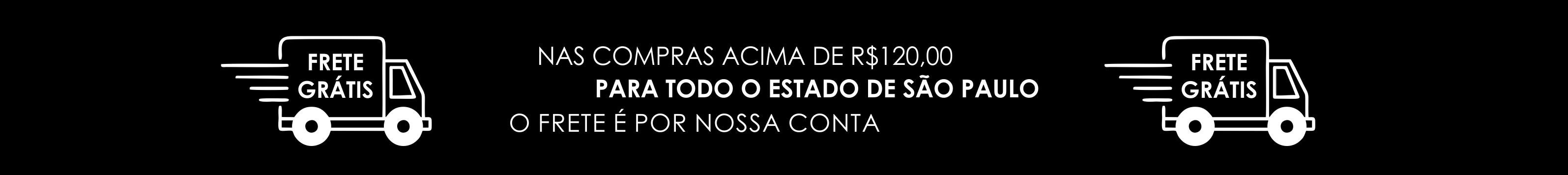 Frete grátis para o estado de São Paulo