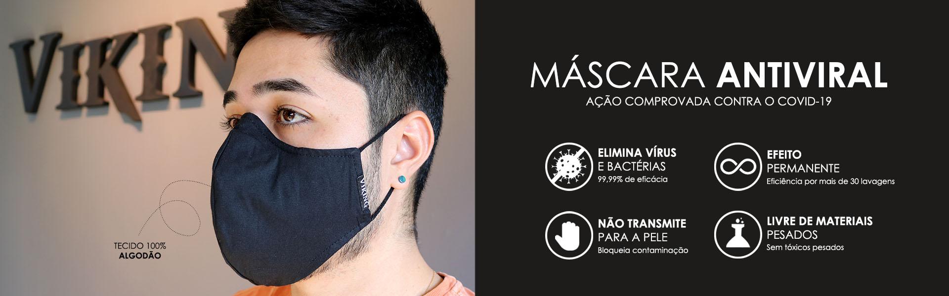 Máscaras de proteção antiviral