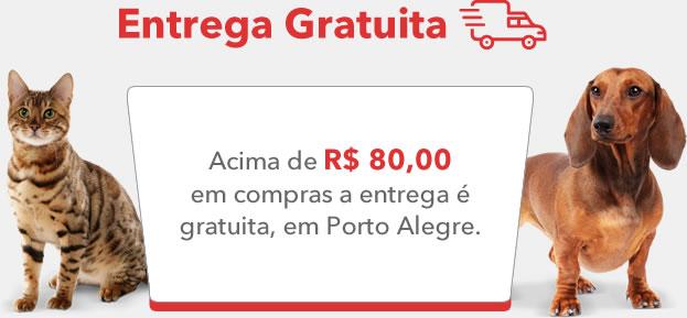 Acima de R$ 50,00 em compras a entrega é gratuita*, em Porto Alegre.