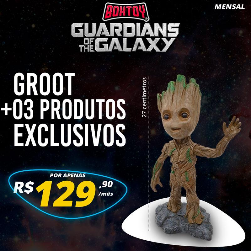 Box Guardioes - Estatua Baby Groot