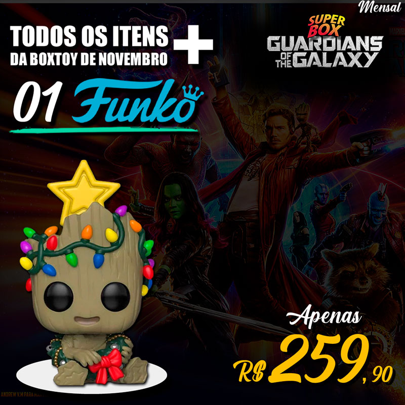 Super Box Guardioes - Funko Baby Groot