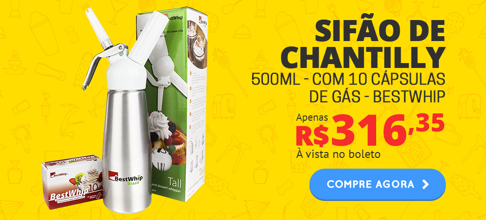 Sifão para Chantilly 500ml