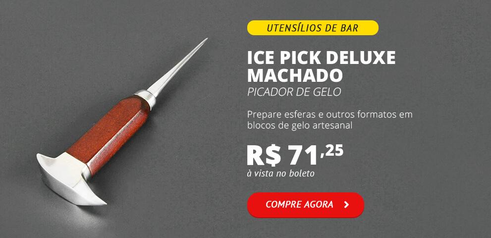 Ice Pick Deluxe Picador Machado de Gelo Artesanal Bartender
