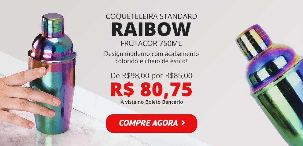 Coqueteleira Colorida Rainbow Frutacor 750ml