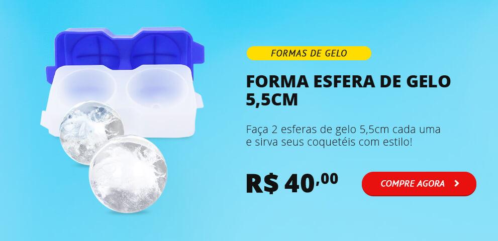 Forma de Gelo 5,5cm com 2 Esferas