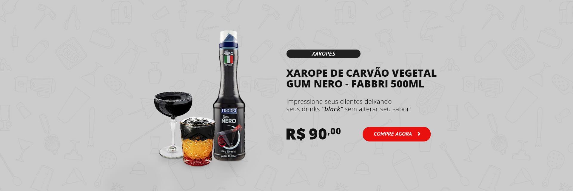 Xarope de Carvão Vegetal Gum Nero Fabbri 500ml