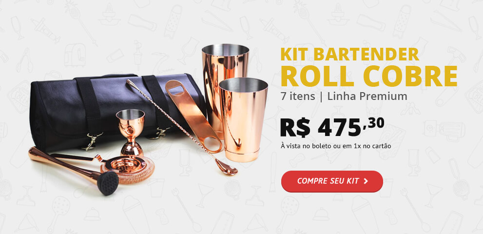 Kit Bartender Roll de Cobre
