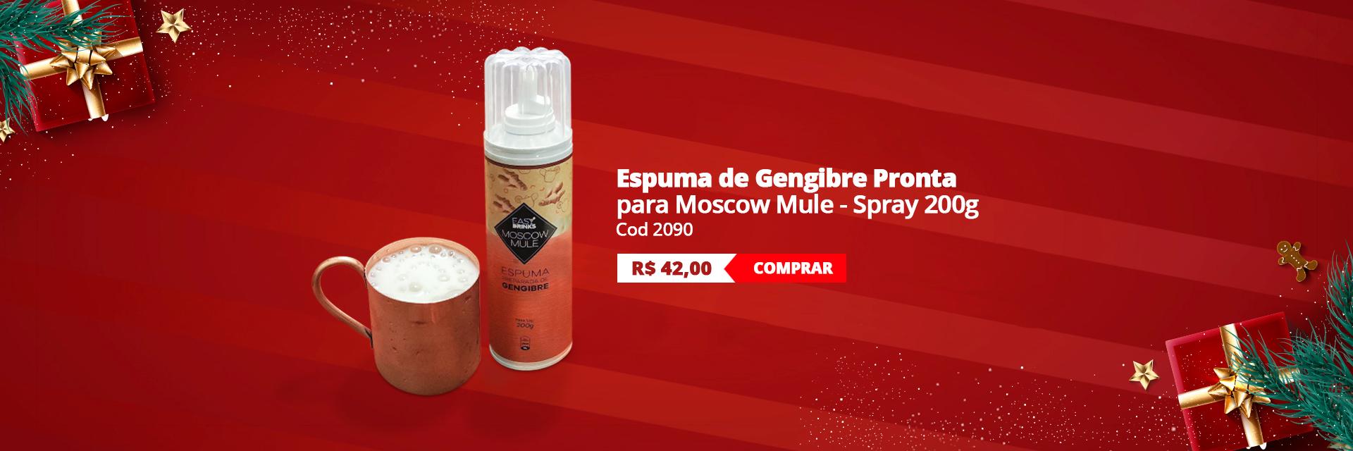 Espuma de Gengibre para Moscow Mule Pronta Spray 200g