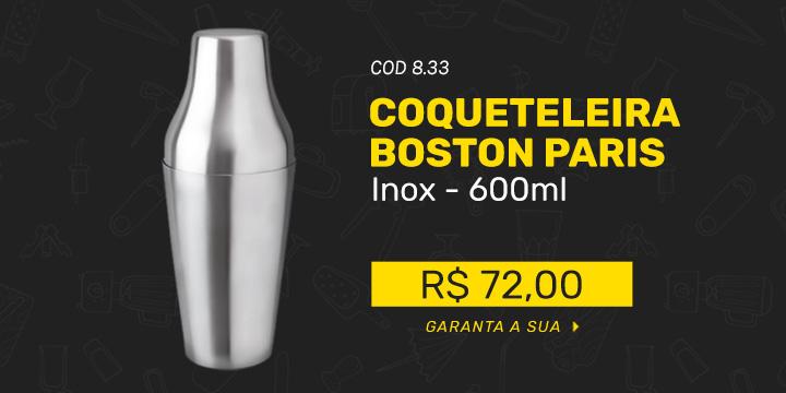 Coqueteleira Boston Modelo Paris - 600ml