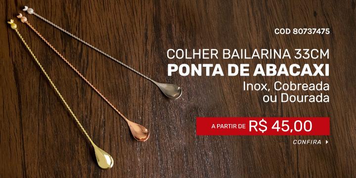 Colher Bailarina com Ponta Abacaxi