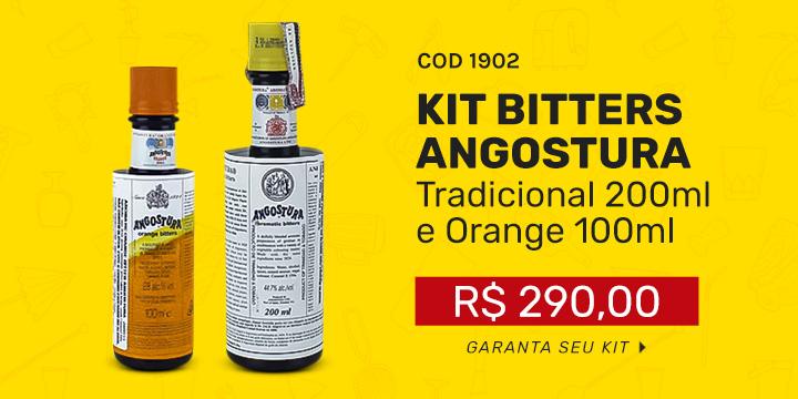 Kit Bitters Angostura - Tradicional 200ml e Orange 100ml