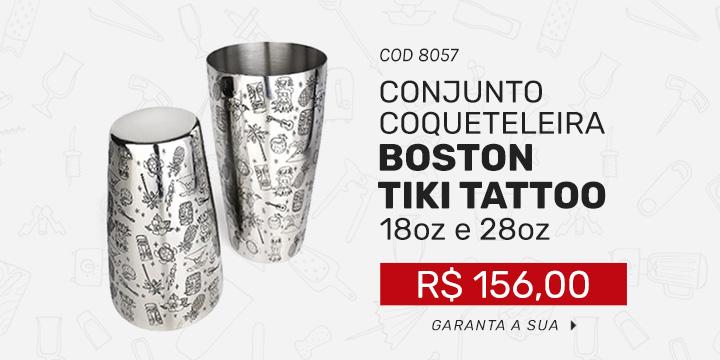 Conjunto Coqueteleira Tiki Tattoo - 28oz e 18oz