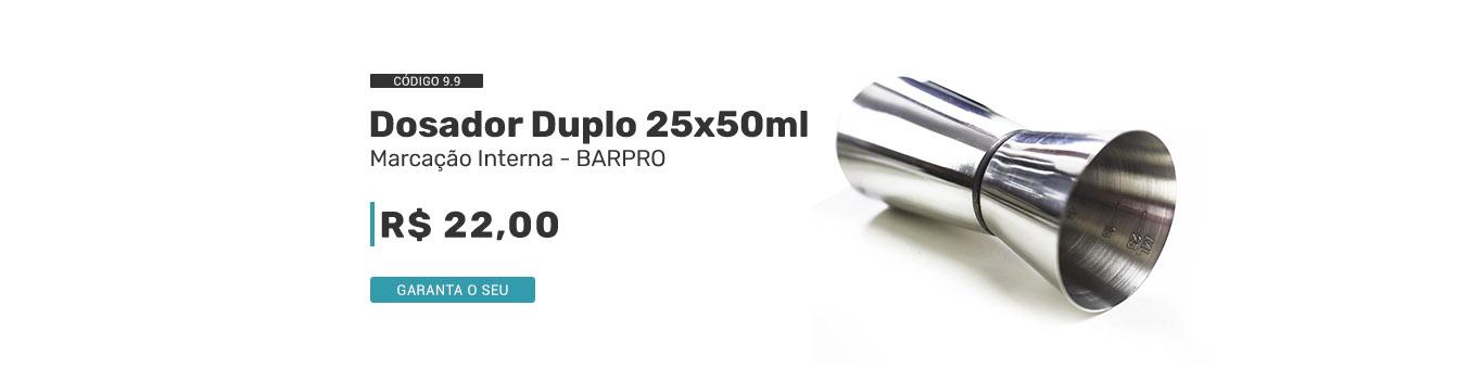 Dosador Duplo 25x50ml código 9.9