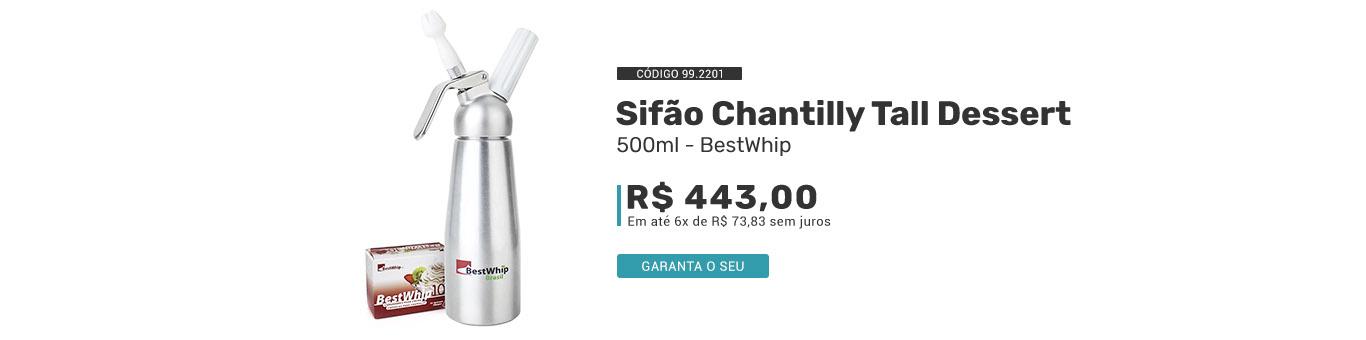 Sifão de Chantilly 500ml código 99.2201